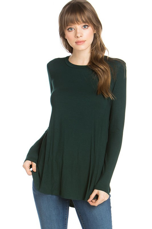 #878 Comfy Casual long sleeve (hunter green)
