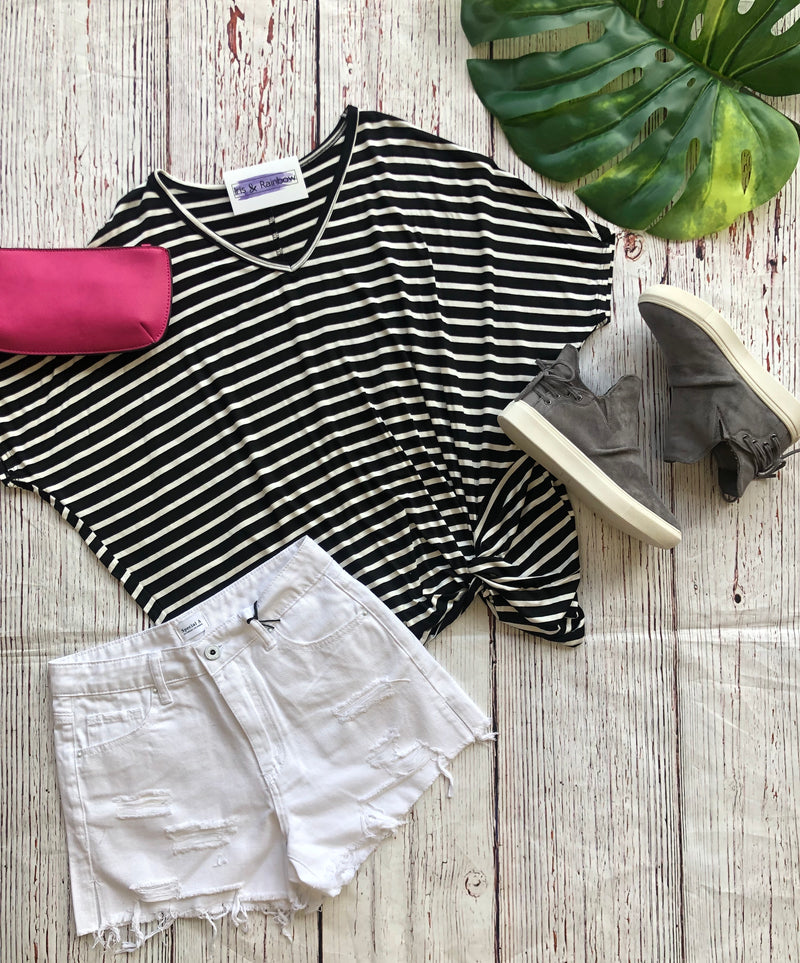 #779 Stripe it up dolman