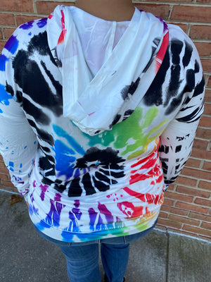 #F2 Rainbow Swirl Hooded Shirt