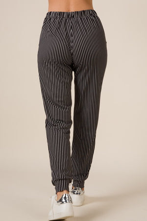 #430 Rain Check Striped Joggers