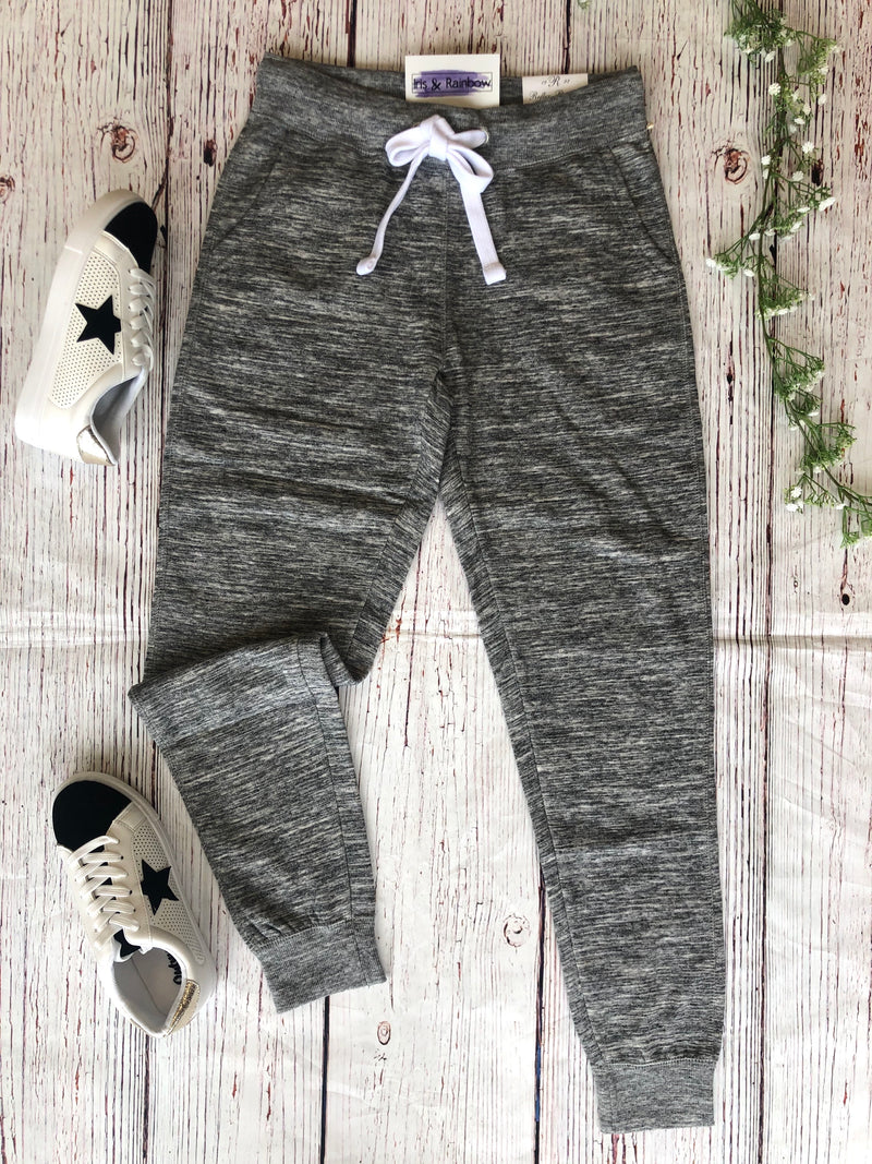 #C176 Live In Joggers (Heathered Gray)