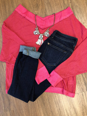 #412 Stand strong off the shoulder sweater