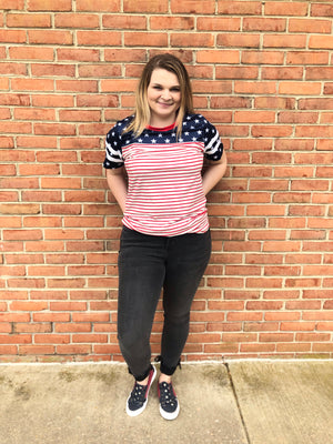 #187 Stars & stripes top