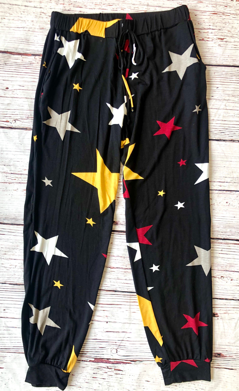#1011 Blackout Stars Bottoms
