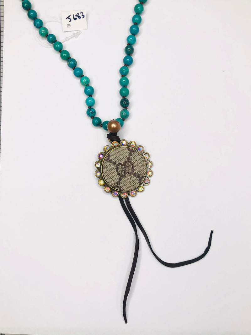 #J683 Turquoise Waters GG Necklace