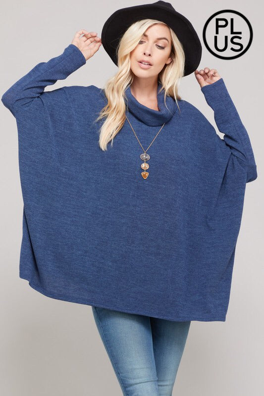 #829 Keep me warm turtle neck sweater (navy) FINAL SALE