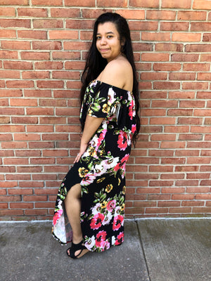 #A87 Always Mine Floral Maxi Dress