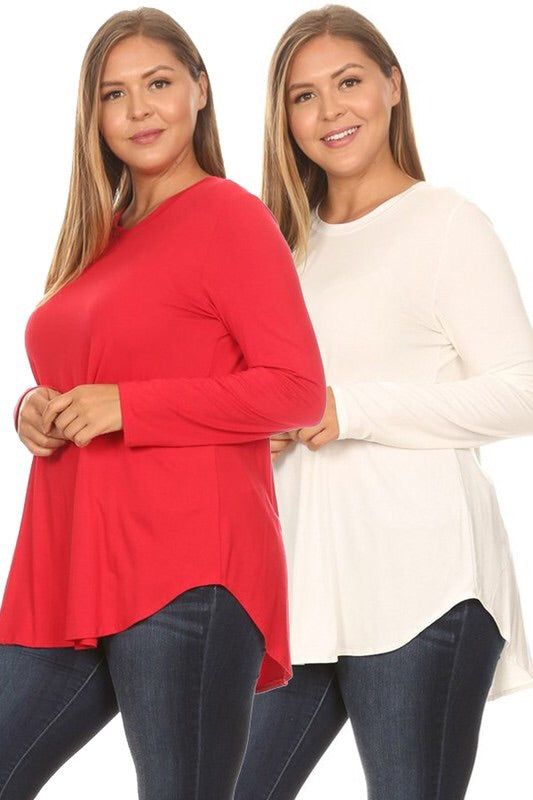 #880 Comfy Casual long sleeve (red)