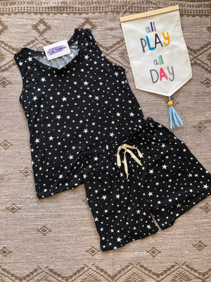 #495 Twinkling stars shorts set