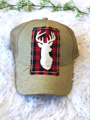 #739 Touch of Plaid Sparkle Hat
