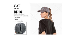 #A52 Shine On Ponytail Cap