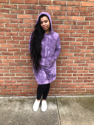 #D20 Purple Sherbet Hoodie Dress