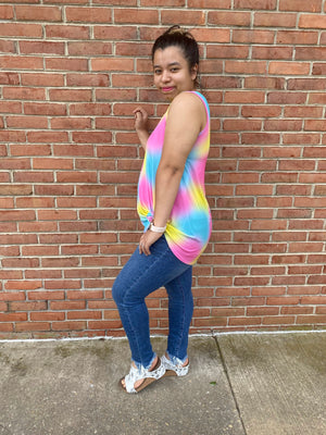 #C143 Ice Cream Sundae Tie Dye Tank (FINAL SALE)
