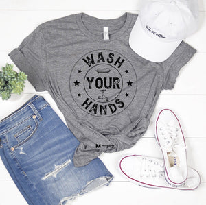 #127 Wash your hands tee