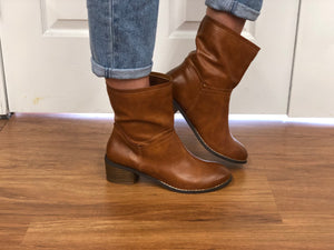 #H1000 Athena Brown Booties