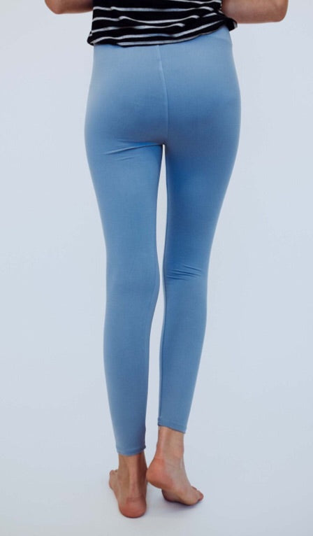 #C181 Soft & comfy leggings (Blue)