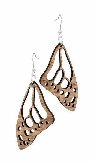 #750 Unique wood earrings