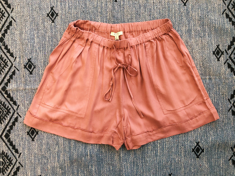 #J958 Mauve You So Much Linen Shorts