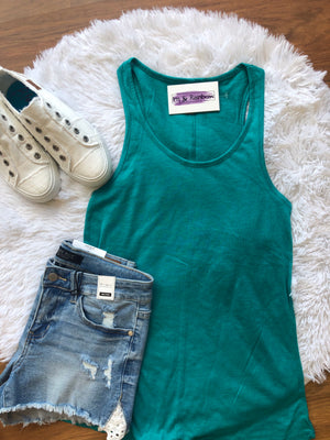 #B147 Sporty Spice Tank Top (Teal)