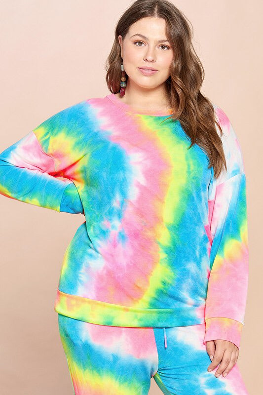 #440 Tie-Dye all day sweater