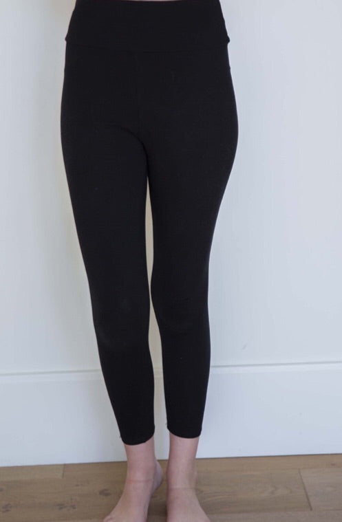 #C183 Soft & comfy leggings (Black)
