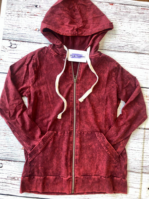 #C61 Warm Me Up Hoodie (Wine)- FINAL SALE
