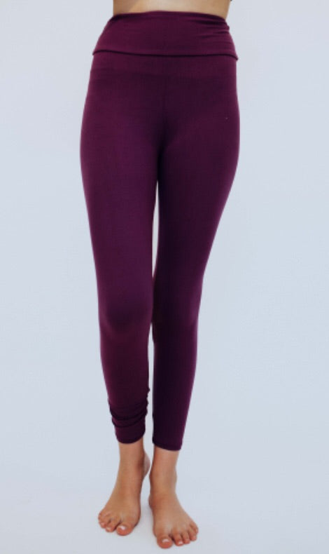 #C182 Soft & comfy leggings (Purple)