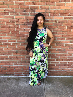 #A141 Exotic garden dress (FINAL SALE)