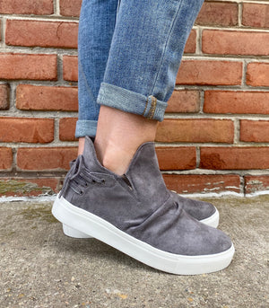 #C168 Rockstar Gray High Top Shoes