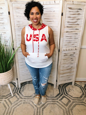 #K4 Star The USA Sleeveless Top