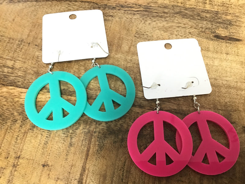 #793 Peace earrings