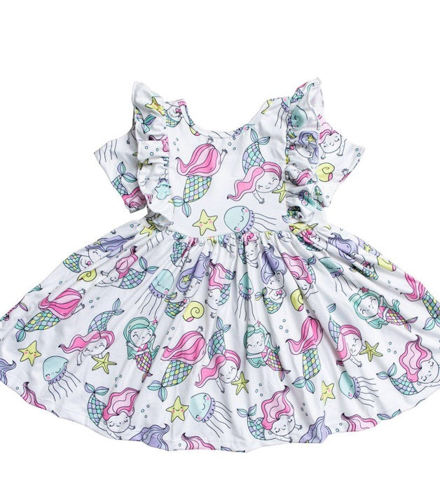 #248 Sea Friends Ruffle Dress