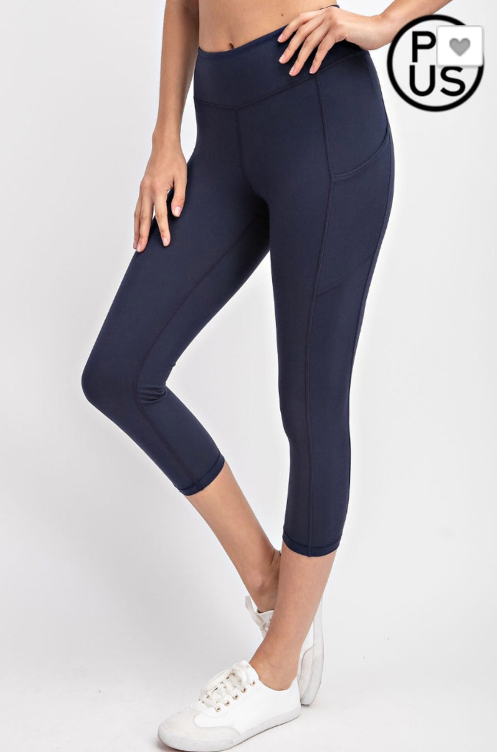 Side pocket capri leggings
