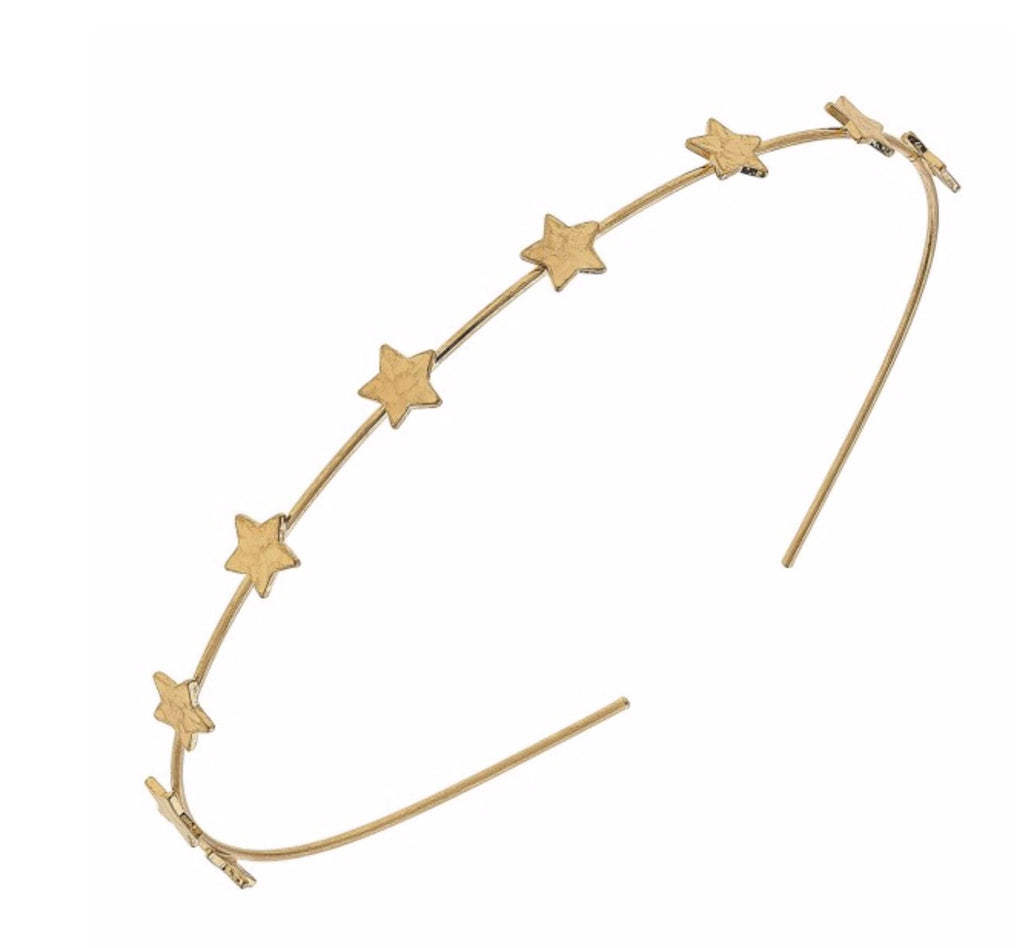 #785 Worn gold metal fashion headband