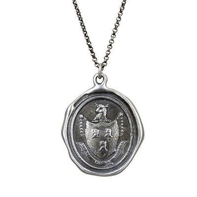 Fortune Favors the Brave - Wax Seal Necklace