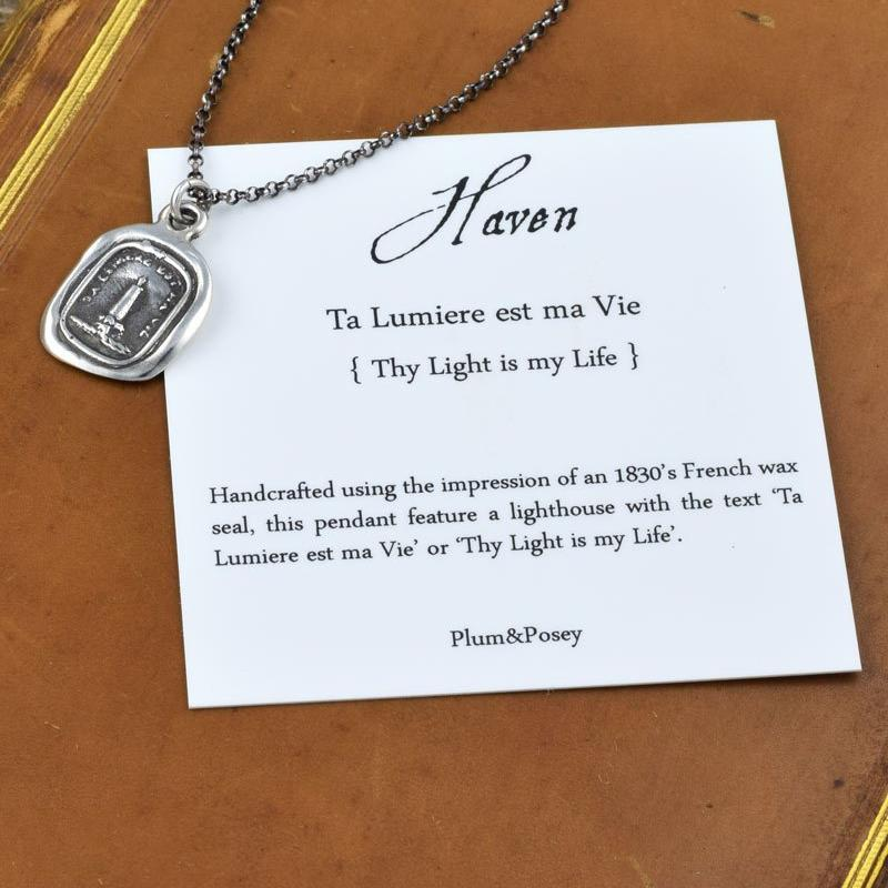 Haven - Lighthouse Wax Seal Necklace - Perfect for Mariners, Sailors and Lovers - Light of my Life