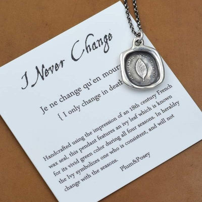 Never Change - Laurel Leaf necklace