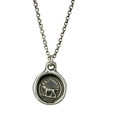 Faithful - Wax Seal Necklace - Faithful Friend Loyalty Devotion Love and Affection Dog Friendship Necklace