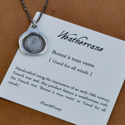 Wind Wax Seal Necklace - A good wind