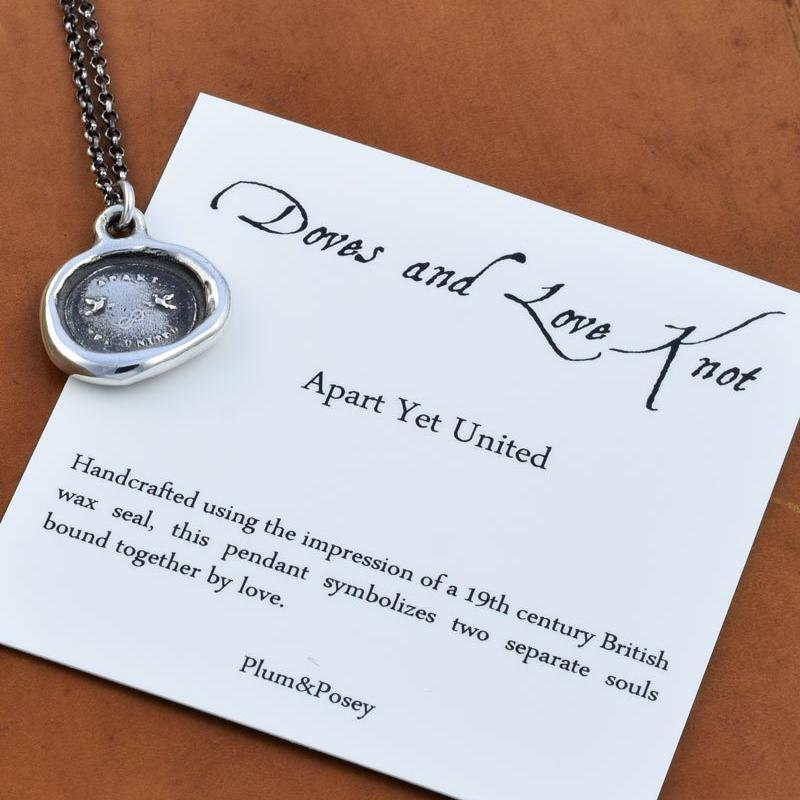 Two Doves Necklace - Apart Yet United
