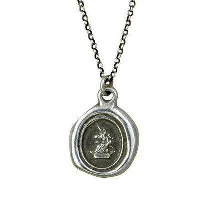 Unicorn & Crown Wax Seal Necklace