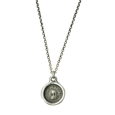 Hour Glass - Time is Short Whimsy Seal Necklace