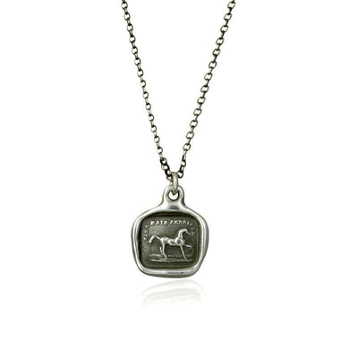 High spirited yet sensitive - Horse wax seal necklace