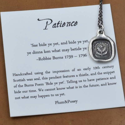 Patience Thistle Necklace