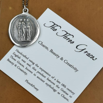 Gratiae - The 3 Graces - Wax Seal Necklace
