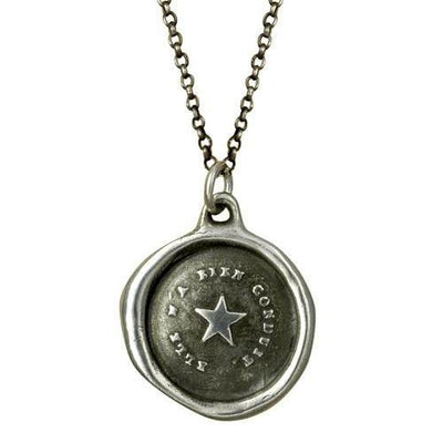 Follow Your Star - Antique Wax Seal Necklace