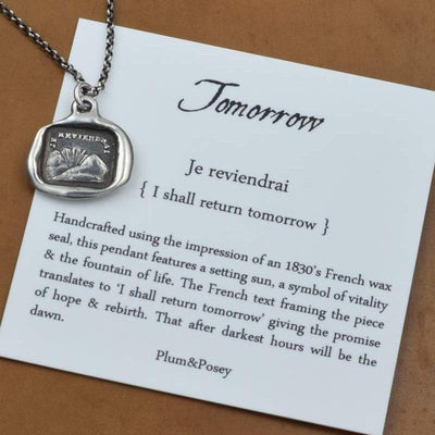 I Will Return - Tomorrow Wax Seal necklace
