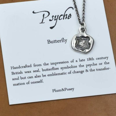 Butterfly Wax Seal Necklace - Psyche, Soul, Immortality