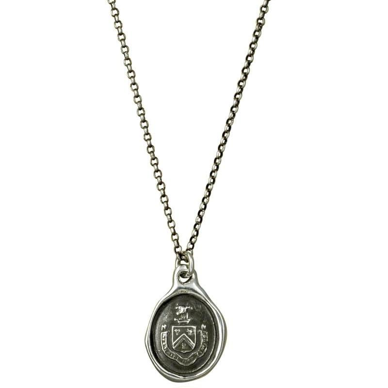Bull Wax Seal Necklace - Neither Rashly, Nor Timidly