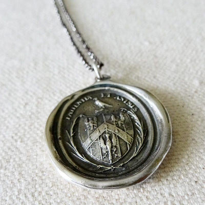 Patience and Courage - Latin Eagle Necklace